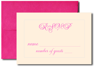 A1 Blank Response Cards with Magenta Envelopes