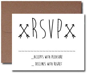 A1 Blank Response Cards with Brown Bag Envelopes
