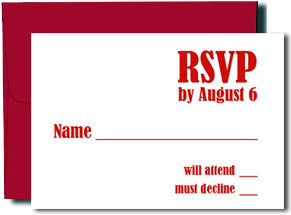 A1 Blank Response Cards with Crimson Red Envelopes