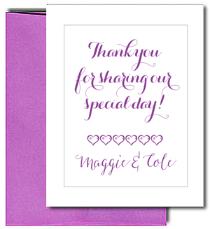 Blank Note Cards with Purple Envelopes