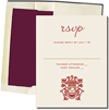 White Cards with Burgundy Lined Envelopes