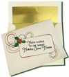 Cream Card with Gold Foil Lined Envelopes