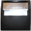 Black with Silver Foil Lined A7 Envelopes
