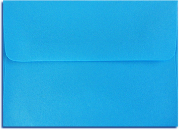 Bright Blue Envelopes All Sizes. No Minimum!