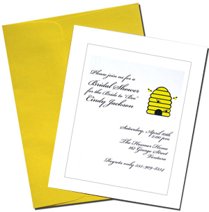 Blank Cards with Bright Yellow Envelopes