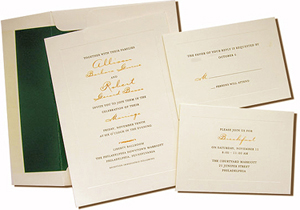 A7 Cream Cards with Hunter Green Lined Envelopes