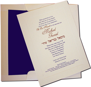 A7 Cream Cards with Navy Blue Lined Envelopes