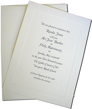 Blank Cards with Cream Envelopes