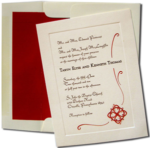 A7 Cream Cards with Red Lined Envelopes