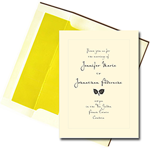 A7 Cream Cards with Sunny Yellow Lined Envelopes
