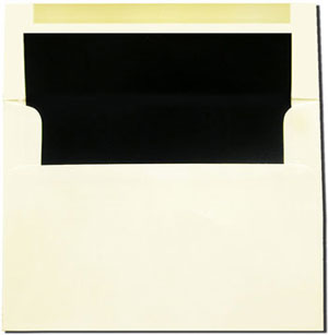 Cream with Black Lined Envelopes