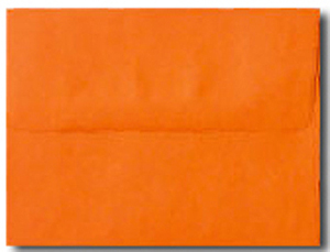 A7 Bright Orange Envelopes. No Minimum!