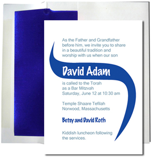 A7 White Cards with Blue Foil Lined Envelopes