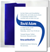 White with Blue Foil  Lined Envelopes