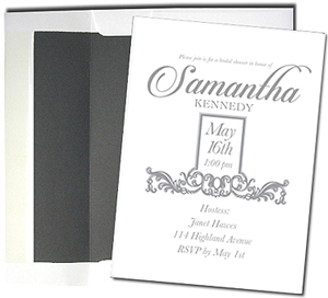 A7 White Cards with Chalkboard Gray Lined Envelopes