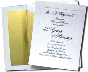 A7 White Cards with Gold Foil Lined Envelopes