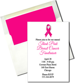 A7 White Cards with Hot Pink Lined Envelopes