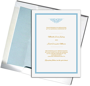 A7 White Cards with Light Blue Lined Envelopes