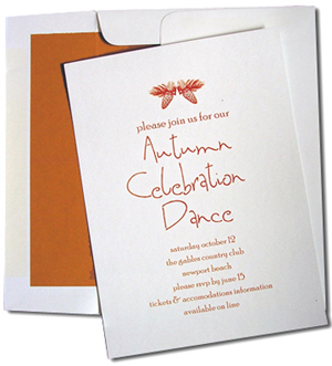 A7 White Cards with Orange Spice Lined Envelopes