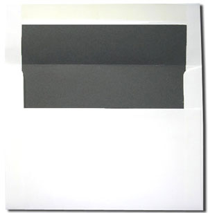 A7 White with Chalkboard Gray Lined Envelopes