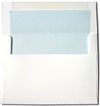 White with Powder Blue Lined Envelopes