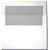White with Light Steel Gray Matte Lined Envelope