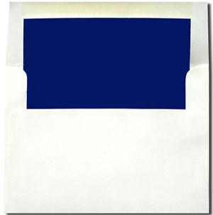 White with Navy Blue Lined Envelopes