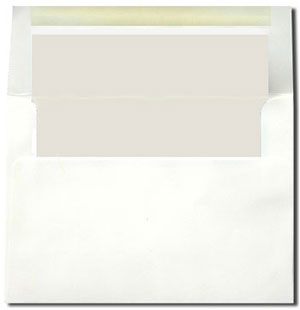 White with Pearl Lined Envelopes