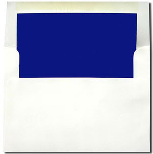 A7 White with Sapphire Blue Lined Envelopes
