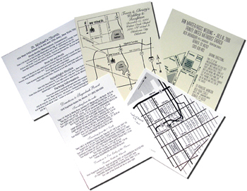 Open Card Stock for Maps and Directions