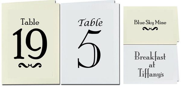 Table Card Stock