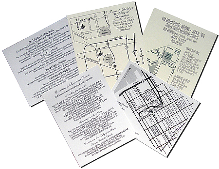 Map and Direction Card Stock