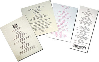 Menu Card Stock