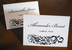 We print our cards and envelopes!