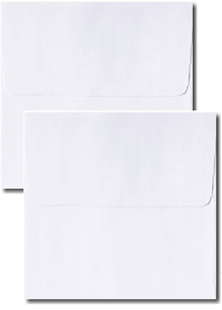 White Tea Length Double Wedding Envelopes