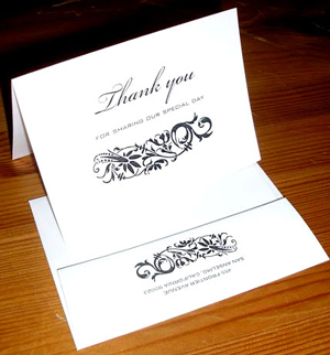 We custom print Thank you note cards.